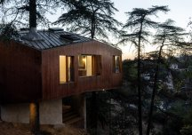 Độc đáo ngôi nhà có cây mọc xuyên mái bên sườn đồi Los Angeles