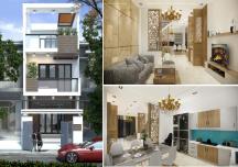 Mẫu thiết kế nhà phố 2 tầng 1 tum hiện đại trên mảnh đất 4,5x16m