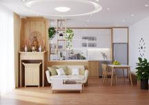 Căn hộ 2 phòng ngủ được thiết kế thông minh, thân thiện với môi trường