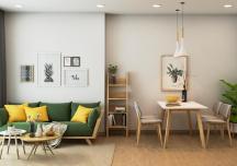 Mẫu thiết kế nội thất căn hộ 2 phòng ngủ tiết kiệm chi phí
