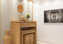Những mẫu thiết kế phòng thờ đẹp, trang nghiêm cho nhà Việt
