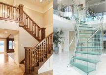 Xây nhà nên làm cầu thang kính hay gỗ? 5 mẫu cầu thang hot nhất nửa đầu 2020