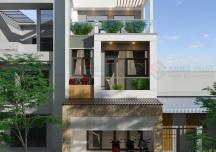 Mẫu thiết kế nhà phố trên đất xéo đẹp không kém đất vuông