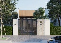 """Mẫu thiết kế nhà cấp 4 đẹp như """"chung cư mặt đất"""" cho vợ chồng trẻ"""
