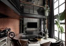 """Ấn tượng căn hộ penthouse phong cách công nghiệp vừa sang vừa """"chất"""""""