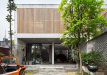 Nhà ngoại ô sử dụng bê tông làm vật liệu hoàn thiện