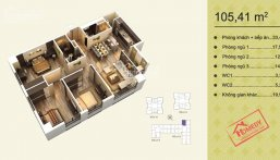 Cần bán gấp căn góc số 10 tòa V3 Home City, 106.8m2, giá 36.5tr/m2