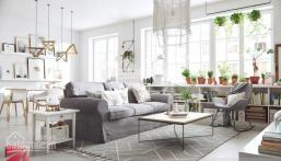 Cho thuê căn hộ Screc 60m2, 2PN, giá 9 tr/th, LH 0909.868.294