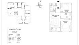 Giá trực tiếp CĐT, căn hộ 2PN 61m2, hướng Nam, cạnh vườn treo dự án Sunshine Riverside, full đồ NT