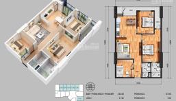 Bán gấp căn hộ 3PN số ban công Đông Bắc, tầng 18 siêu đẹp full nội thất liền tường. LH 0971389500