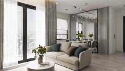Cho thuê căn 3PN Vinhomes Q9, tòa S2.01, DT: 82m2, nội thất cao cấp hướng Đông Nam view sông