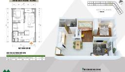 Bán căn hộ 2PN, S = 48m2 giá 960tr, bao phí, full đồ dự án HH2 Xuân Mai Complex Dương Nội