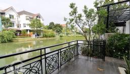 Bán gấp căn Hoa Sữa 3, 202m2, 23 tỷ, hoàn thiện hiện đại, sân vườn rộng, view sông đường Hoa Hồng