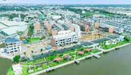 Bán 04 căn nhà phố 70m2 giá rẻ, dự án The Pearl Riverside Bến Lức, Long An