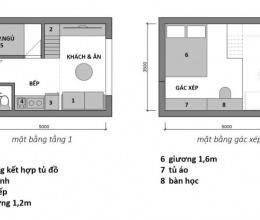 Tư vấn cải tạo phòng gần 20m2 thành căn hộ cho 3 người