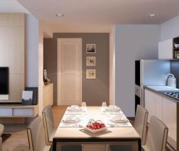 Tư vấn thiết kế, bài trí nội thất căn hộ 49m2, chi phí 100 triệu đồng