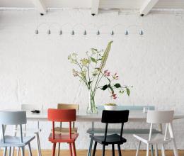 5 cách phối hợp ghế ngồi trong phòng ăn