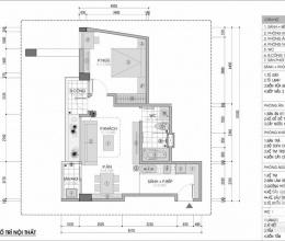 Tư vấn thiết kế nội thất căn hộ 54m2 chi phí 104 triệu đồng