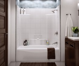 Những mẫu bồn tắm mini siêu chất dành cho phòng tắm nhỏ