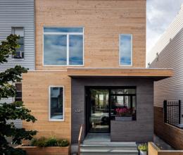Ngôi nhà gỗ chỉ 30m2 nhưng vô cùng hiện đại và bắt mắt