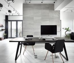 Vẻ đẹp cá tính của căn hộ chỉ sử dụng hai màu ghi, đen