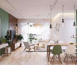 Cách sử dụng màu xanh lá khéo léo trong căn hộ phong cách nhiệt đới