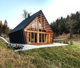 Khám phá căn hộ dạng cabin ẩn mình giữa cánh rừng già