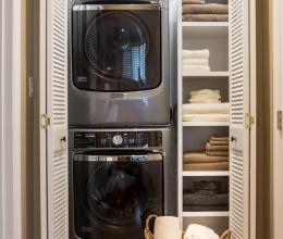 4 giải pháp đặt máy giặt - sấy hợp lý cho nhà nhỏ hẹp