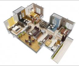 Những mẫu thiết kế căn hộ 3 phòng ngủ cho gia đình nhiều thế hệ