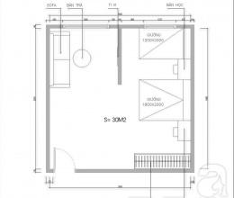 Tư vấn bố trí nội thất căn phòng 30 m2 đủ công năng cho gia đình 4 người