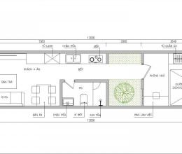 Tư vấn thiết kế nhà cấp 4 thoáng sáng cho gia đình 3 người, DT 39 m2