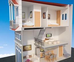 Những mẫu thiết kế nhà phố 1 trệt, 1 lửng, 1 lầu đẹp