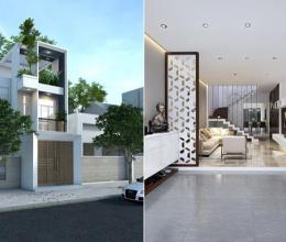Mẫu nhà phố 3 tầng đẹp, dễ thực hiện với chi phí 1,2 tỷ đồng