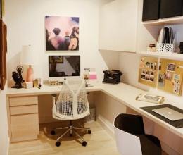 Nới rộng phòng làm việc vừa nhỏ, vừa không có cửa sổ