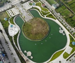 Công viên hình cây đàn guitar độc đáo ở Hà Nội