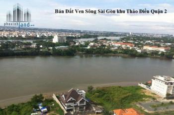 Bán gấp lô đất mặt sông Sài Gòn khu vip nhất Thảo Điền, 633m2