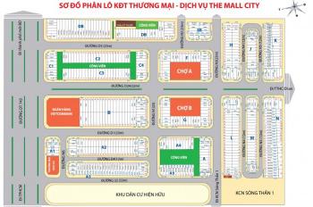 Bán đất nền ngã tư 550, gần chợ, trung tâm khu dân cư, tiện kinh doanh