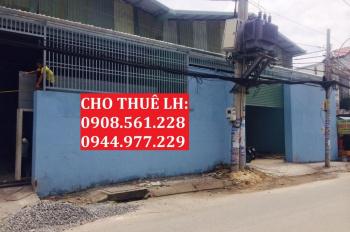 Cho thuê nhà xưởng cầu Tham Lương - Quận 12. DT: 500m2 - 35tr/th, 900m2 - 65tr/th, LH: 0908.561.228