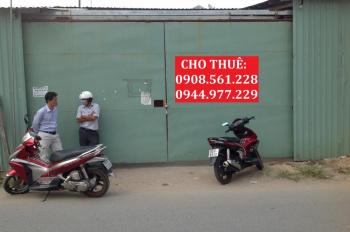 Cho thuê 4 nhà xưởng nằm ngay Ngã Tư Ga, quận 12, 400m2, 500m2, 1200m2, 2200m2 LH: 0908.561.228