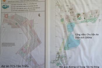 Bán gấp lô đất đấu giá Tân Triều cạnh Viện Bỏng, DT 120m2 MT 6m, hướng ĐB sổ đỏ CC giá 45 tr/m2