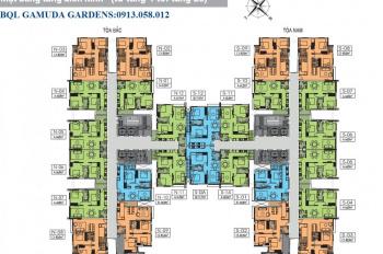 Bán căn hộ 2PN KĐT Gamuda, có sân vườn 22 triệu/m2 gồm VAT + phí bảo trì