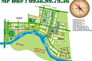Vị trí đẹp giá rẻ hơn thị trường 3tr/m2 cần bán gấp nền biệt thự 2 MT sông Bắc Rạch Chiếc - Lê Đức