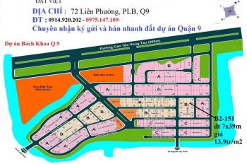 Đất nền dự án tại khu dân cư đại học Bách Khoa, Q9, lô A2, bán 25 tr/m2