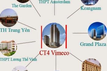 Bảng giá mới nhất chung cư CT4 Vimeco, trực tiêp chủ đầu tư. 0914.102.166