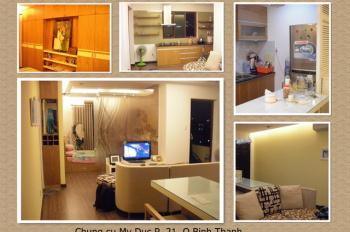 Cho thuê căn hộ Mỹ Đức, gần Q1, 3 phòng ngủ, nhà có nội thất, 15 tr/th. LH: 0906 910 626, nhà đẹp