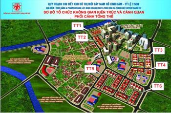 Bán 02 suất ngoại giao thuộc dự án Tây Nam Hồ Linh Đàm, 80m2, 90m2, MT 5m, giá 55tr/m2