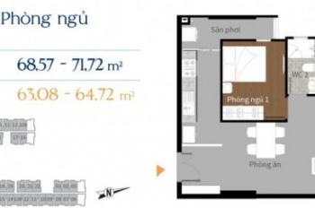 Cần tiền bán gấp chung cư Him Lam Phú An, Quận 9 đã nhận nhà, giá 2 tỷ