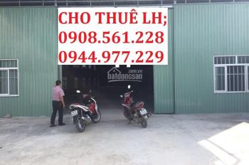 Cho thuê nhà xưởng mới xây nằm ngay Ngã Tư Ga - quận 12, DT: 300m2 giá 15tr/tháng. LH: 0937 388 709