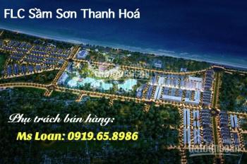 Đất liền FLC Sầm Sơn Thanh Hóa, LK10 mặt đường thông, cách cổng dự án FLC 50m. LH 0911.633.555