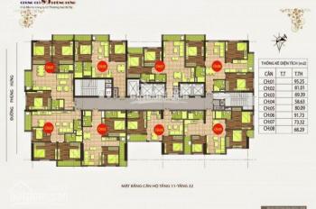 Cần bán gấp căn hộ chung cư 89 Phùng Hưng, tầng 1002, DT: 81.1m2, giá: 16tr/m2. LH: 0963166736